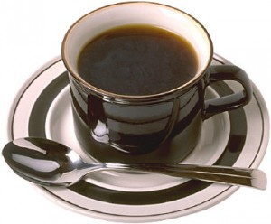 cup of coffee & spoon