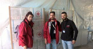 Ομάδα επαγγελματιών και εθελοντών του Τμήματος Ελληνικού Ερυθρού Σταυρού Θεσσαλονίκης στο πλευρό των προσφύγων