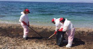 Οι Σαμαρείτες Διασώστες & Ναυαγοσώστες του Ε.Ε.Σ. στις επιχειρήσεις απορρύπανσης/καθαρισμού της ακτής του Σαρωνικού