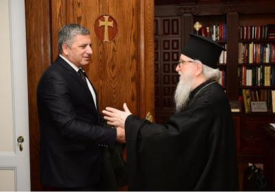 Συνάντηση του Προέδρου του ΙΣΑ και της ΚΕΔΕ Γ. Πατούλη με τον Αρχιεπίσκοπο Αμερικής Δημήτριο στη Ν. Υόρκη
