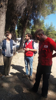 Επίσκεψη κλιμακίου του ECHO στα Κέντρα φιλοξενίας προσφύγων και μεταναστών στον Σκαραμαγκά και τη Ριτσώνα.