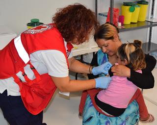 Ο Ελληνικός Ερυθρός Σταυρός συνεχίζει το πρόγραμμα εμβολιασμού παιδιών