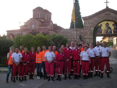 Υγειονομική κάλυψη εορτασμού στη μνήμη του Αγίου Παϊσίου από το Σώμα Εθελοντών Σαμαρειτών Ε.Ε.Σ. Θεσσαλονίκης