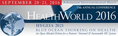 15o Ετήσιο Συνέδριο Healthworld 20-21 Σεπτεμβρίου 2016