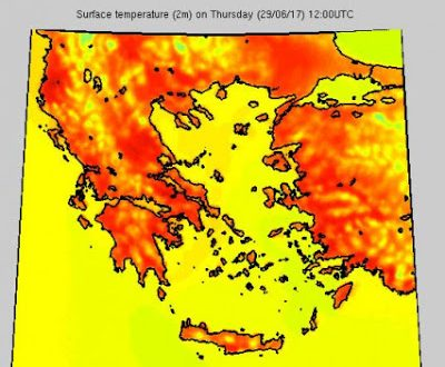 Γ. Καλλιάνος: Πανευρωπαικό ρεκόρ - Πάνω από τους 45°C στην Αττική