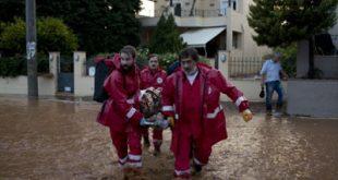 Ο Ελληνικός Ερυθρός Σταυρός στο πλευρό των πληγέντων από τη θεομηνία στη Δυτική Αττική